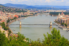 Budapest and Danube river panoramic view Stock Image