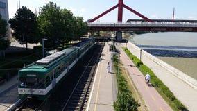 Budapest Danube Shore Stock Images
