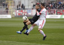 Budapest Honved contra partido de fútbol de la liga del banco de DVSC-TEVA OTP Fotografía de archivo libre de regalías