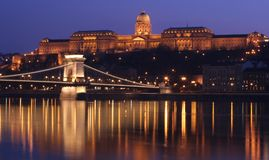 Budapest de Night imágenes de archivo libres de regalías