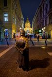BUDAPEST- DECEMBER 05:.A view of St Stephan Basilica and Hungarian Policeman in foreground on 05 December, 2017 in stock photos