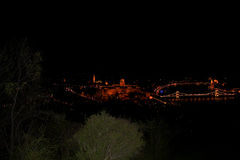 Budapest in der Nacht Lizenzfreie Stockfotos