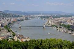 Budapest die Hauptstadt von Ungarn Stockbilder
