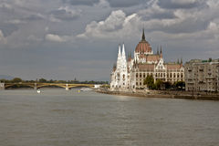 Budapest dome in the Danube, Hungary Royalty Free Stock Image