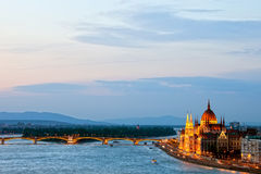 Budapest at Dusk Royalty Free Stock Images
