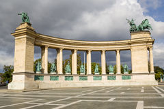 Budapest. Element of the Millenary Monument5 Royalty Free Stock Image