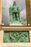 Budapest. Element of the Millenary Monument Stock Images