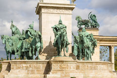 Budapest. Element of the Millenary Monument3 Stock Image