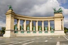Budapest. Elemento del Monument5 millenario Immagine Stock Libera da Diritti