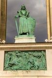 Budapest. Elemento del monumento milenario Imágenes de archivo libres de regalías