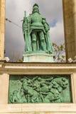 Budapest. Elemento del monumento milenario Imagenes de archivo