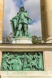 Budapest. Elemento del monumento milenario Foto de archivo