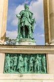 Budapest. Elemento del monumento milenario Fotos de archivo
