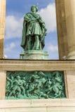 Budapest. Elemento del monumento milenario Imagen de archivo