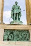 Budapest. Elemento del monumento milenario Fotos de archivo libres de regalías