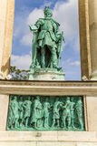 Budapest. Elemento del monumento millenario Fotografie Stock