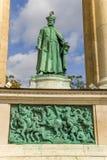 Budapest. Elemento do monumento milenário Fotografia de Stock Royalty Free