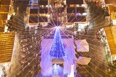 Budapest en el horizonte de Twillight - Navidad de la basílica justa Foto de archivo libre de regalías