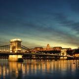 Budapest en la noche imagen de archivo libre de regalías