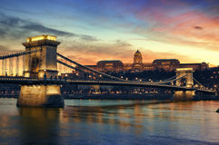 Budapest en la noche Fotos de archivo libres de regalías