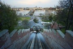 Budapest en la noche, Hungría Fotos de archivo libres de regalías