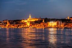 Budapest en una noche de verano foto de archivo