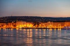 Budapest en una noche de verano foto de archivo libre de regalías