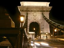 Budapest, entrada del chainbridge Imagenes de archivo