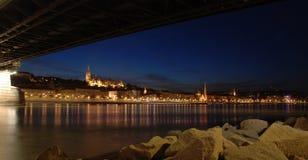 Budapest entro la notte Immagini Stock