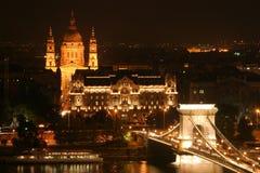 Budapest entro la notte Immagini Stock Libere da Diritti