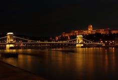 Budapest entro la notte Fotografia Stock Libera da Diritti