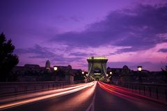 Budapest entro Night Fotografia Stock Libera da Diritti