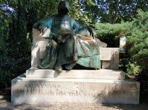 Budapest - estatua de anónimo imagen de archivo