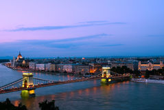 Budapest in the evening royalty free stock images