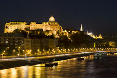 Budapest in the evening Royalty Free Stock Photos
