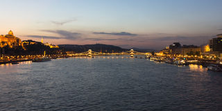 Budapest in the evening Stock Image