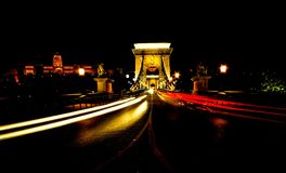 Budapest för Chain bro Ungern Arkivbild