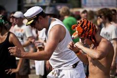 Budapest för festival för Sziget sommarmusik Ungern Royaltyfria Bilder
