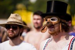 Budapest för festival för Sziget sommarmusik Ungern Arkivbild