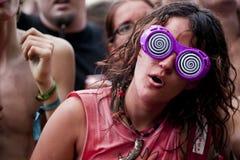 Budapest för festival för Sziget sommarmusik Ungern Arkivfoto