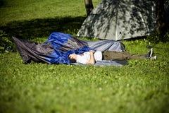 Budapest för festival för Sziget sommarmusik Ungern Royaltyfri Bild