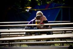 Budapest för festival för Sziget sommarmusik Ungern Fotografering för Bildbyråer
