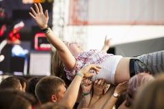 Budapest för festival för Sziget sommarmusik Ungern Arkivbilder