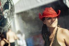 Budapest för Sziget musikfestival Ungern Arkivbilder