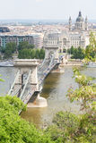 Budapest famous suspension bridge Royalty Free Stock Photography