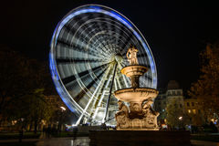 Budapest Ferris Wheel. By Night Stock Image