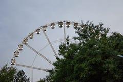 Budapest Ferris Wheel pris pendant une soirée nuageuse en été C'est l'un des points de repère de la capitale de la Hongrie Images libres de droits