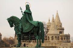 Budapest-Fischerbastion sta Stockfotografie
