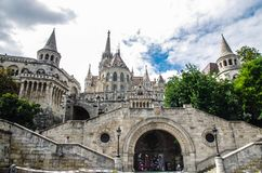 Budapest Fisherman`s Bastion stock photos