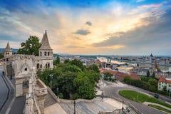 Budapest city skyline Stock Photos
